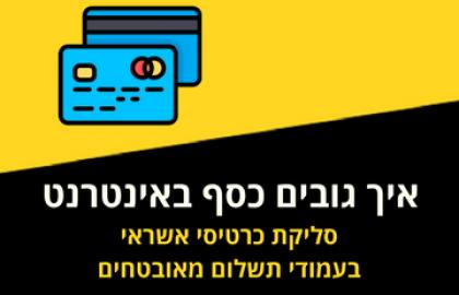 איך גובים כסף באינטרנט וסולקים כרטיסי אשראי של לקוחות?